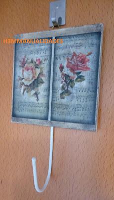 cuelgallaves-vintage-rosas