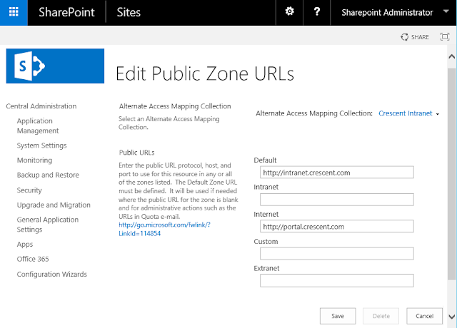 sharepoint 2013 alternate access mapping powershell