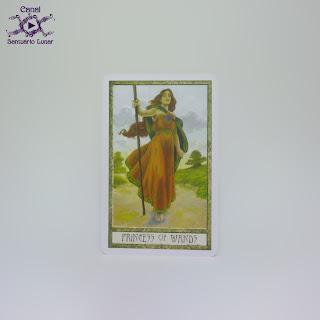 The Druid Craft Tarot - Princess of Wands