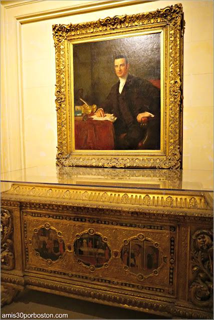 Retrato de Cornelius Vanderbilt en el Vestíbulo de The Breakers, Newport