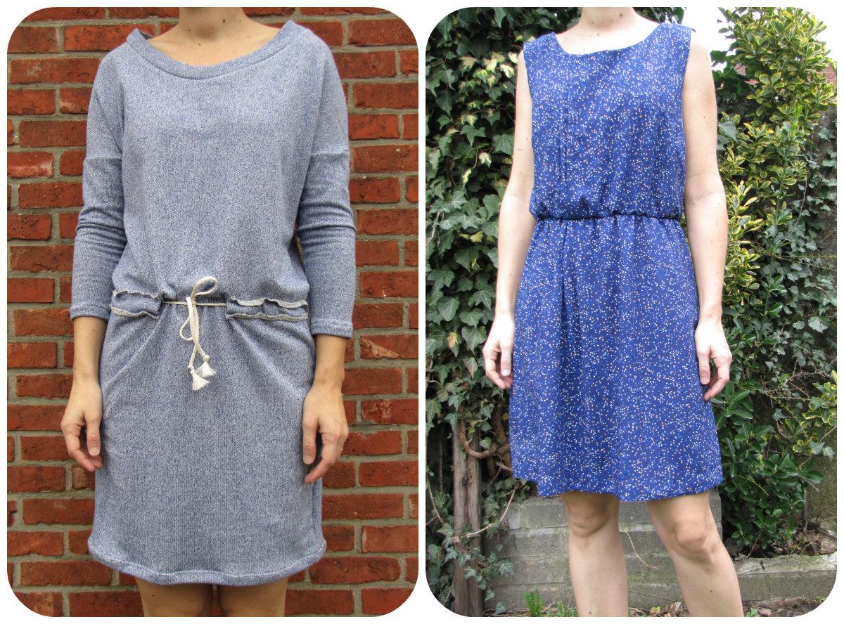 patroon sweater jurk