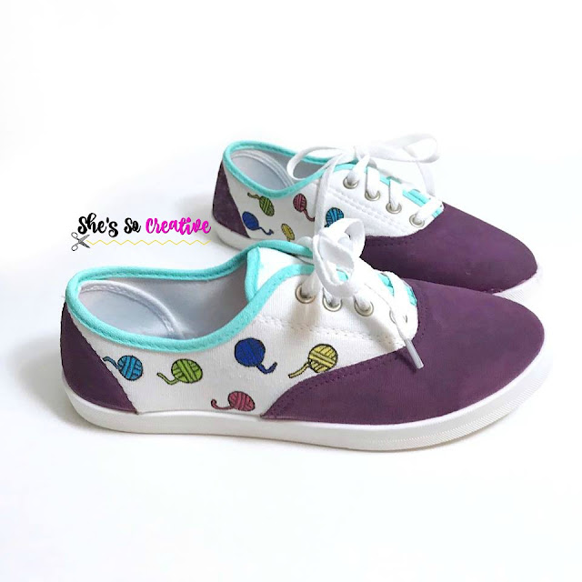 Yarn Ball Print Canvas Shoes