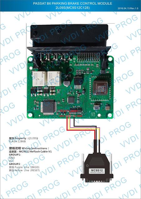 PASSAT B6 PARKING BRAKE CONTROL MODULE 2L09S