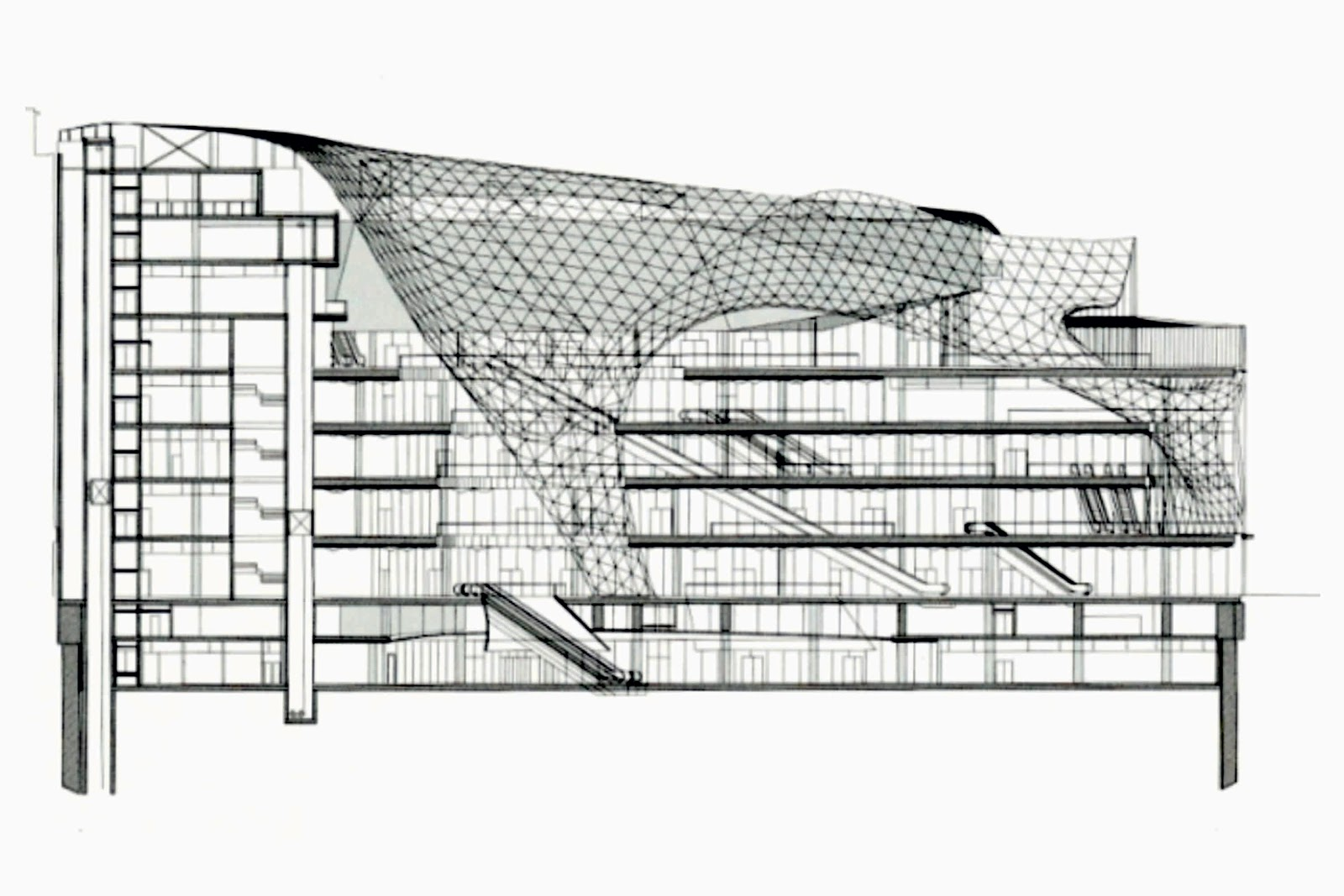 Floor Plan Of A Shopping Mall Myzeil Shopping Mall By Fuksas A As Architecture