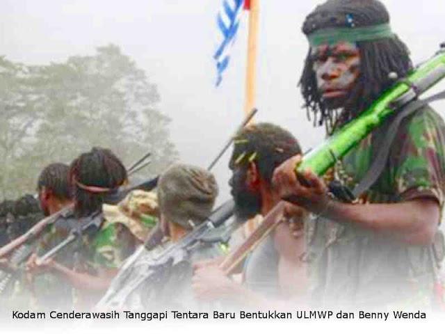 Kodam Cenderawasih Tanggapi Tentara Baru Bentukkan ULMWP dan Benny Wenda