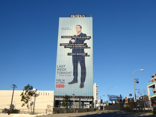 Giant Last Week Tonight John Oliver season 3 billboard Sunset Strip