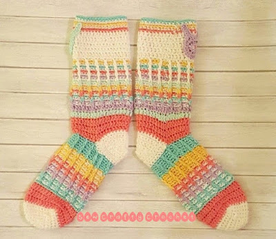 Hoppy Easter Crochet Socks.