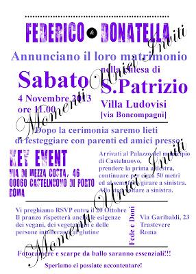 lilla PROGETTO: Partecipazione alternativa manifestoProgetti grafici - Nozze