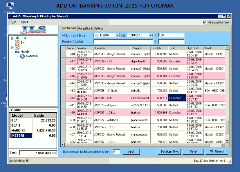 ADD ON IBANKING SOFTWARE SERVER PULSA OTOMAX - Jasa Server ...