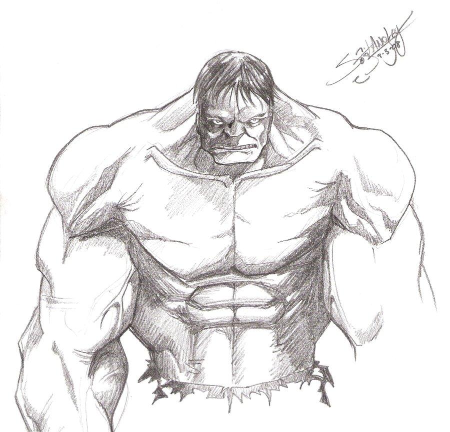Kids Page: Hulk Sketch By LangleyEffect On DeviantART ...