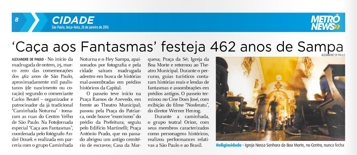 c76187dac6 'Caça aos Fantasmas' festeja 462 anos de Sampa