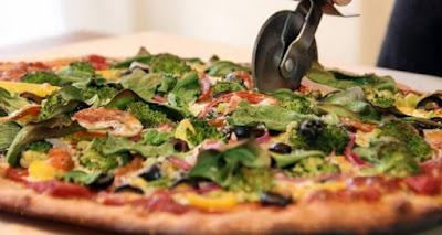 Pizza Vegana de Cogumelos