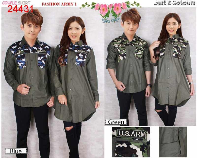 Jual Kemeja Couple Fashion Army 1 - 24431