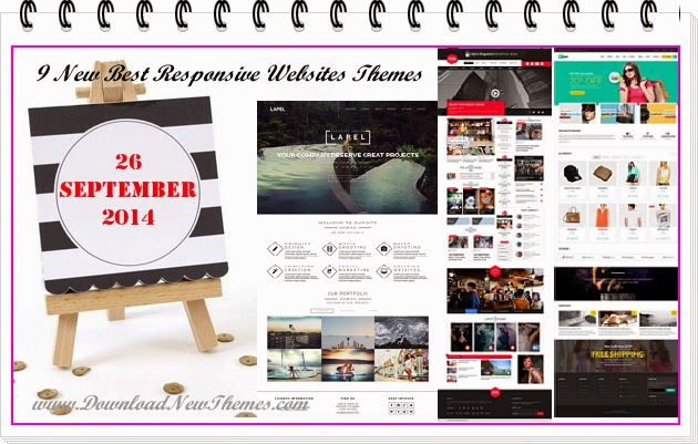9 New Best Responsive Websites Themes of September