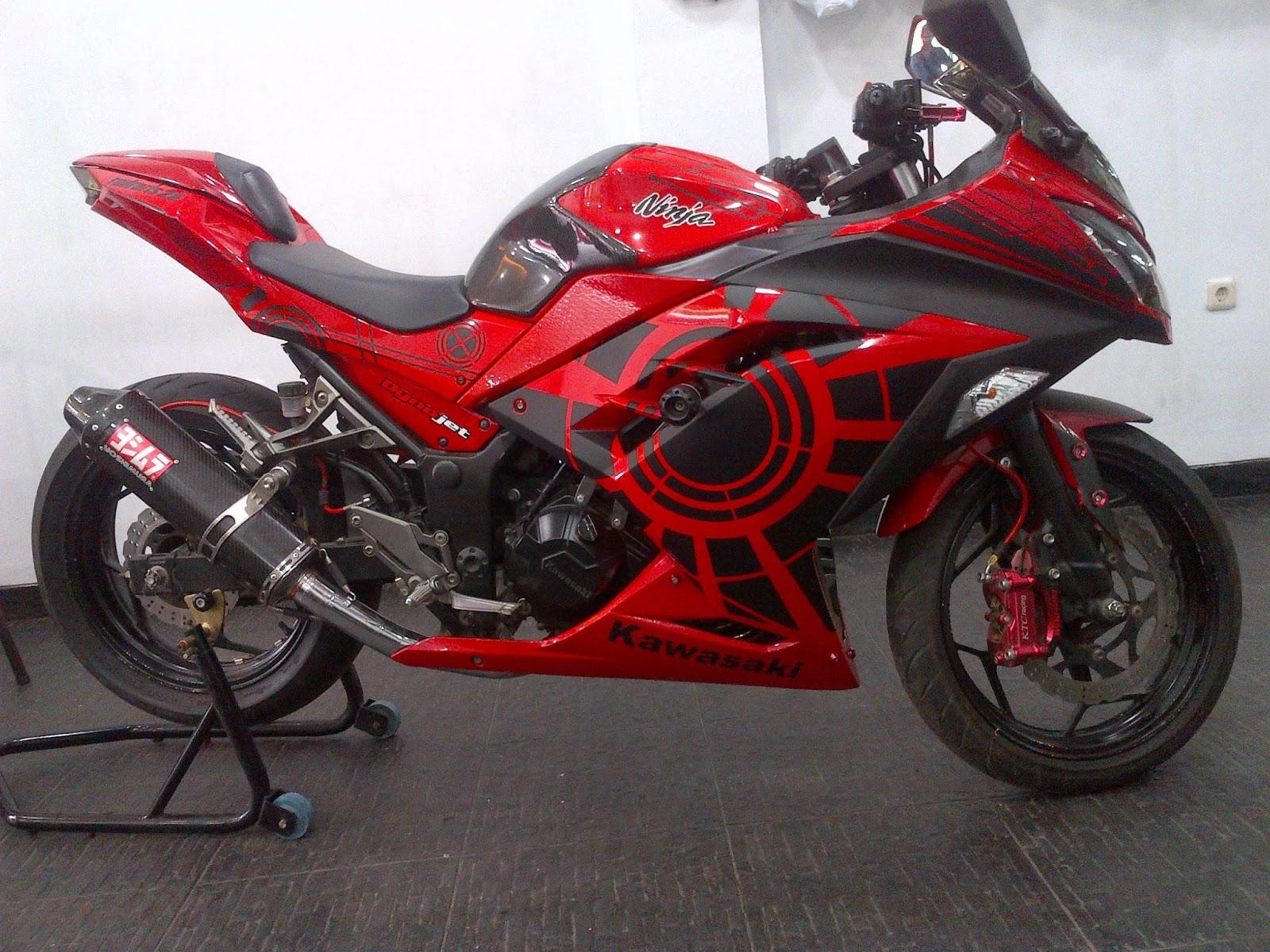 Foto Modifikasi Motor Ninja 250 Merah Terbaru 2015