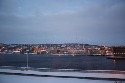 Winter evening, Duluth Harbor
