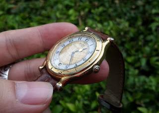 Jam Antik Seiko Age Of Discovery 5Y22-6050 Gold Plate Langka Quartz Men Watch