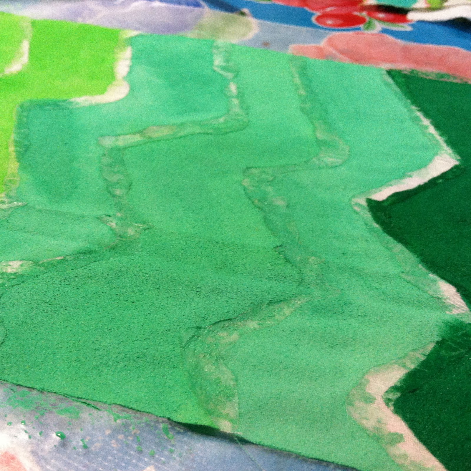 Glue Resist Fabric Prints