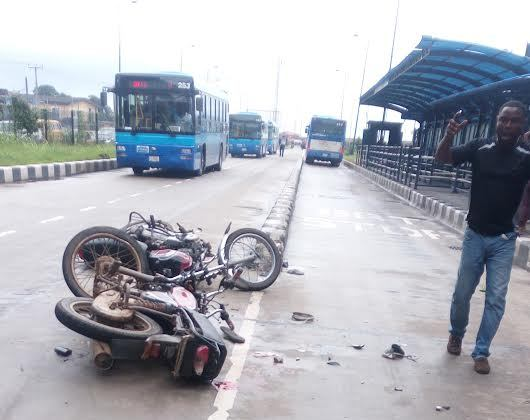 Photos from a horrific bike accident on Ikorodu road