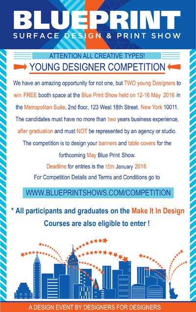 Print pattern blueprint competition win a free show booth in blueprint competition win a free show booth in new york malvernweather Choice Image