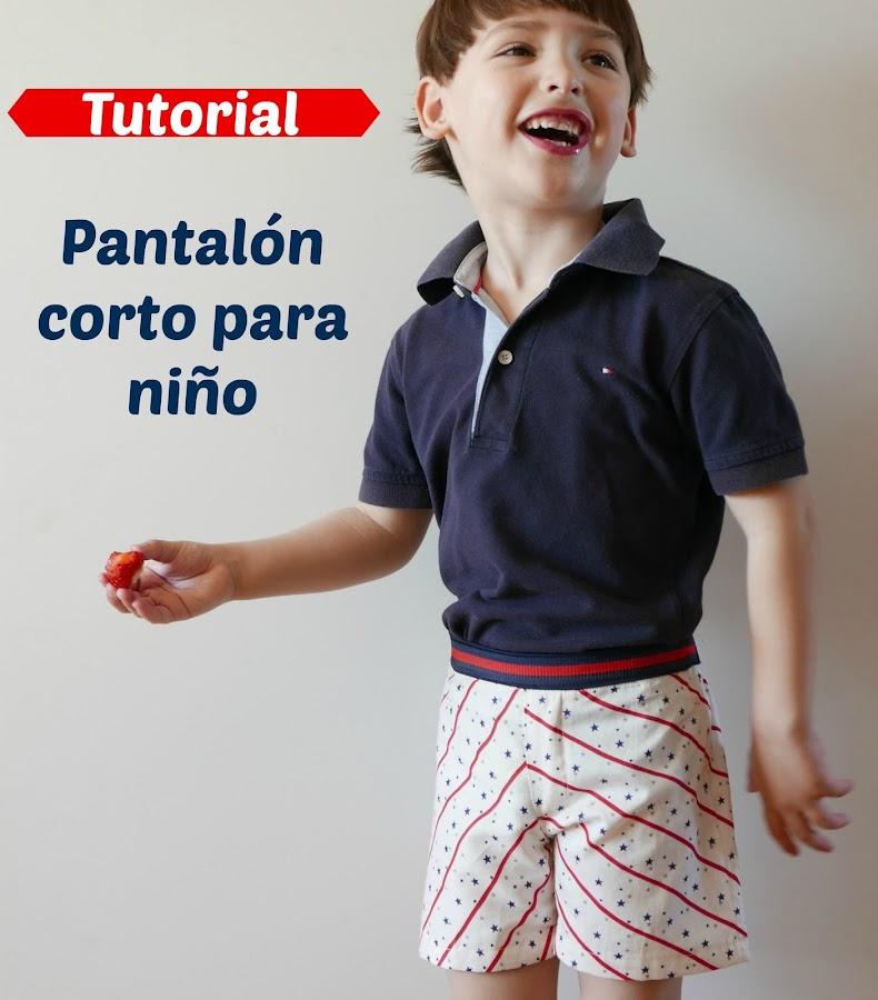 Patron PDF shorts niño