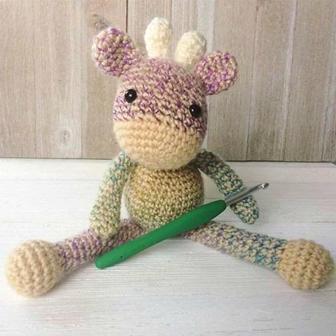 Free Crochet Pattern for The Friendly Mini Giraffe