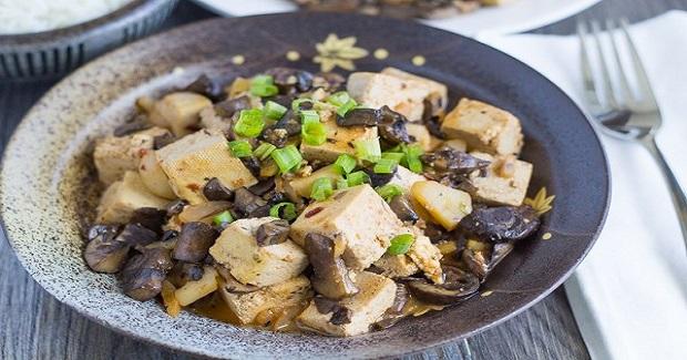 Chinese Braised Tofu And Mushrooms Recipe