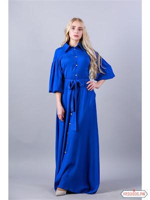 Vestido azul de fiesta largos