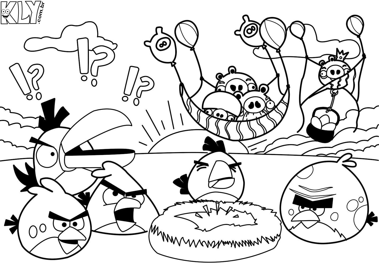 Desenho Angry Birds Menina Para Colorir: Desenhos Para Colorir No Jogos Online Wx