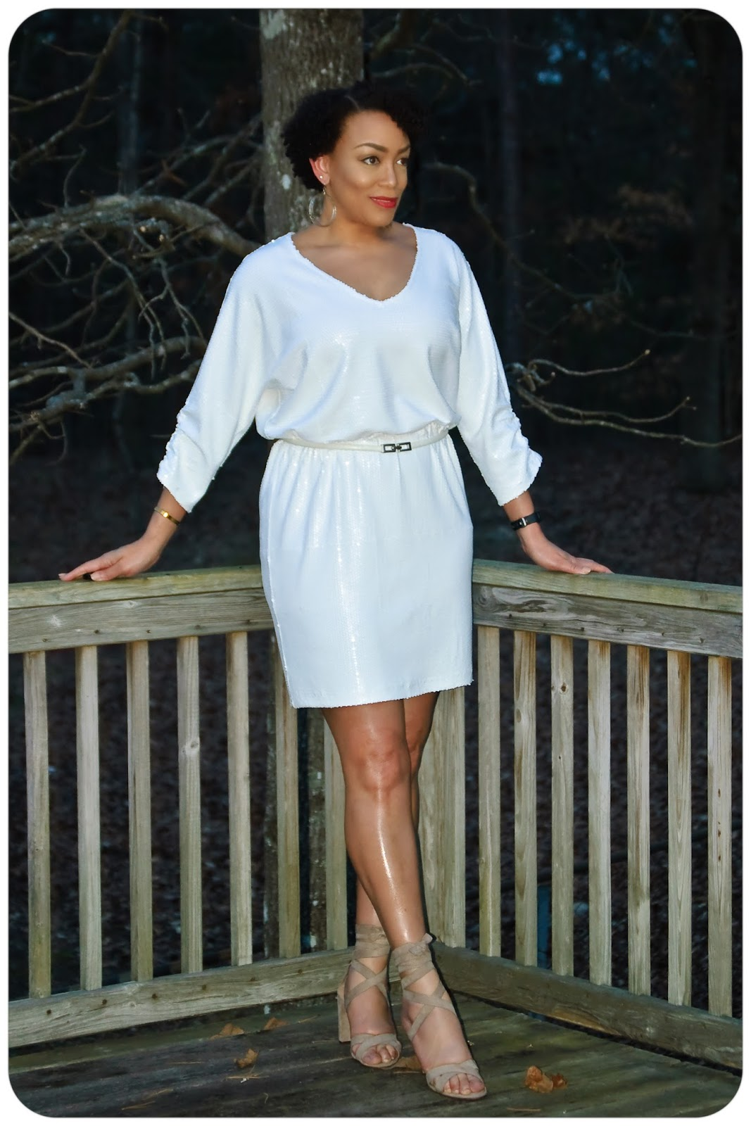 Vogue 8961 | A Little White Sequin Dress - Erica Bunker DIY Style!