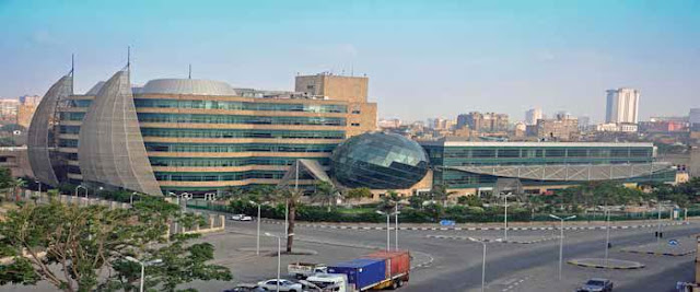 57357 Children Cancer hospital's building  n Cairo