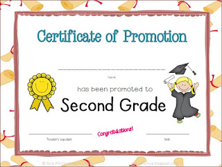Certificate of Promotion to Second grade