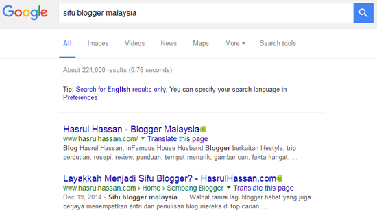 Sifu Blogger - Pakar SEO?