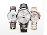 Logo Gioca e vinci gratis un orologio uomo o donna Baume & Mercier