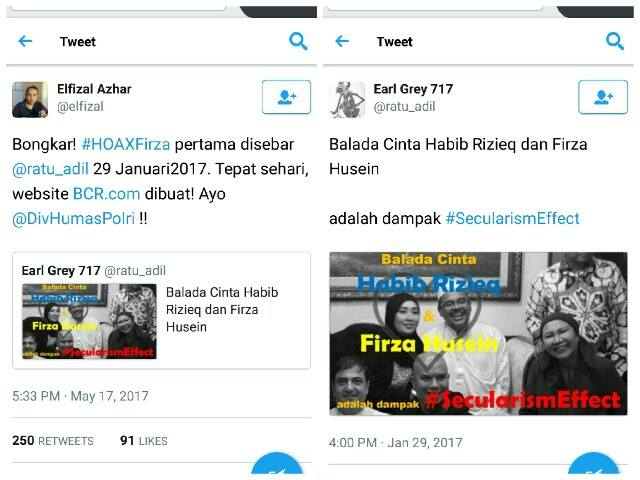 TERBONGKAR! Netizen: INILAH Akun yang Pertama MENYEBARKAN Chat Rekayasa dan Hoax Firza