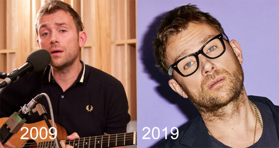 Damon Albarn the 10 Year Challenge , damon albarn before after, young damon albarn