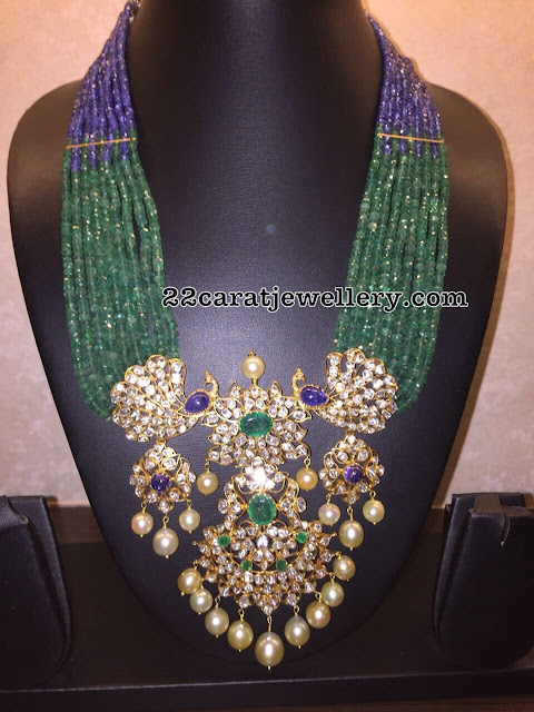 Emerald Beads Long Set by Sitara Jewellery