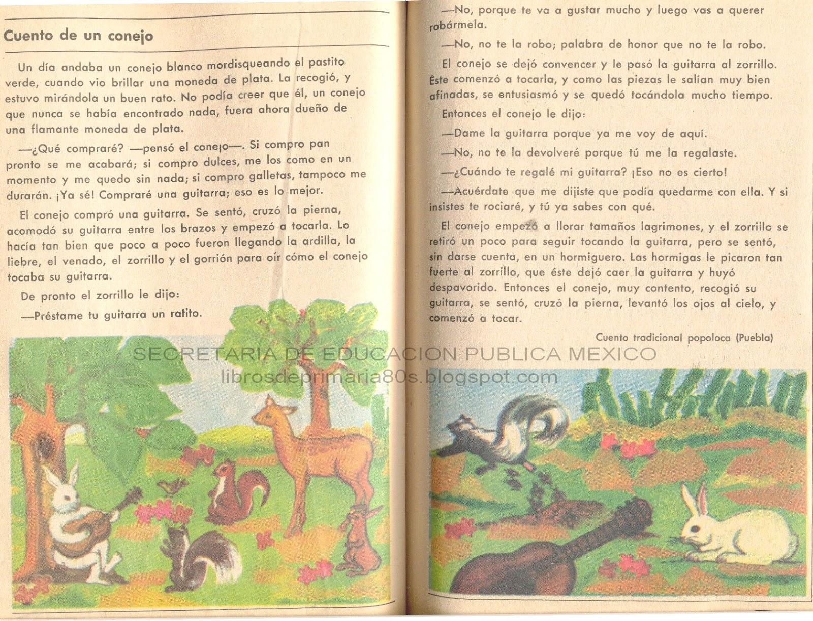 Libros de Primaria de los 80's: Cuento de un conejo