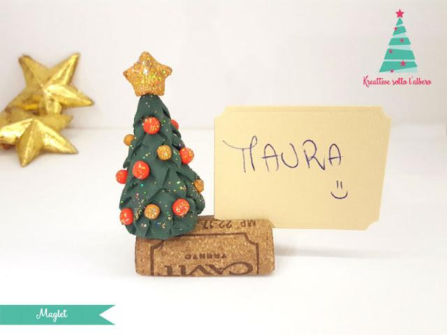 Segnaposto natalizio con pasta modellabile fimo