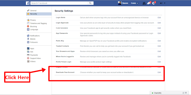 Delete Facebook Account deactivate this