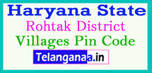 Rohtak District Pin Codes in Haryana State