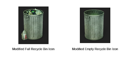 recycle bin icon not changing windows 10