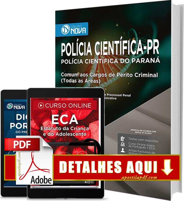 Apostila Polícia Científica PR 2017 PDF Impressa Perito Criminal