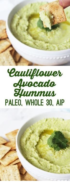 Avocado Cauliflower Hummus