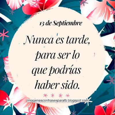 Frase del Día 13 de Septiembre