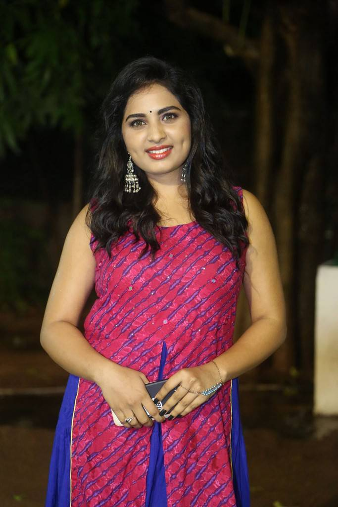 Srushti Dange In Pink At Oye Ninne Movie Audio Launch