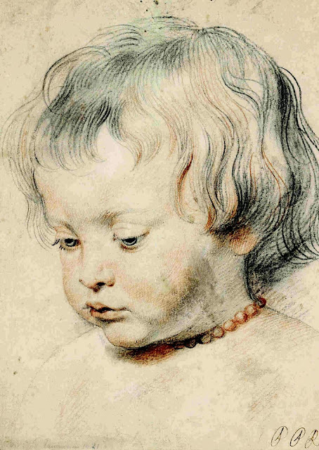 Sketch portrait by Peter Paul Rubens