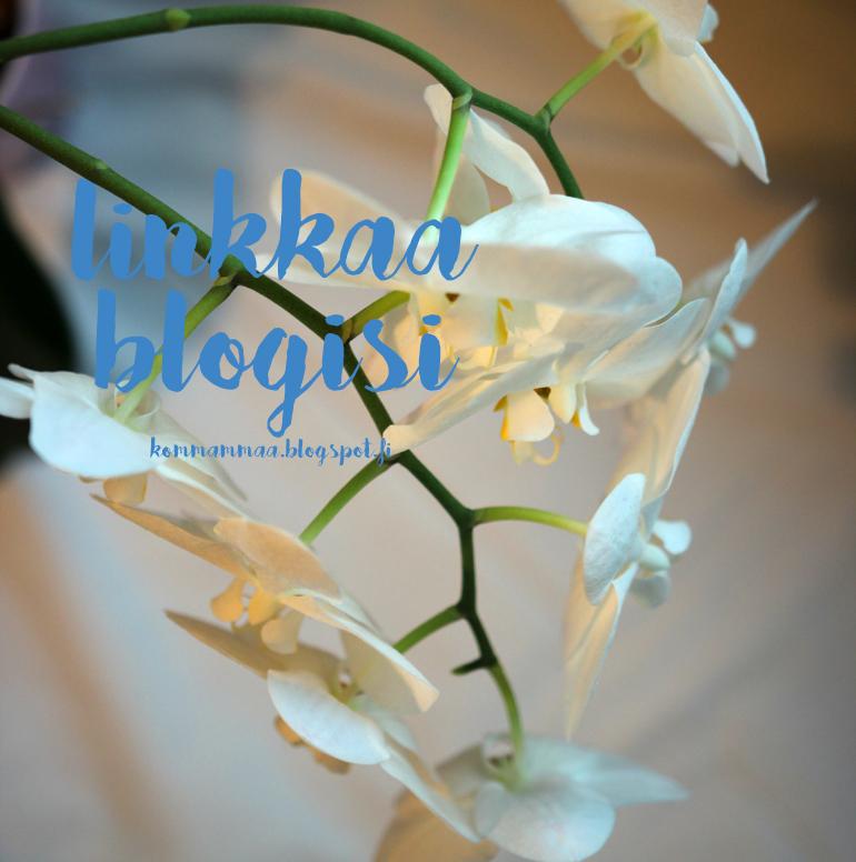 linkkaa blogisi linkitä blogi lukulista uutta luettavaa valkoinen orkidea