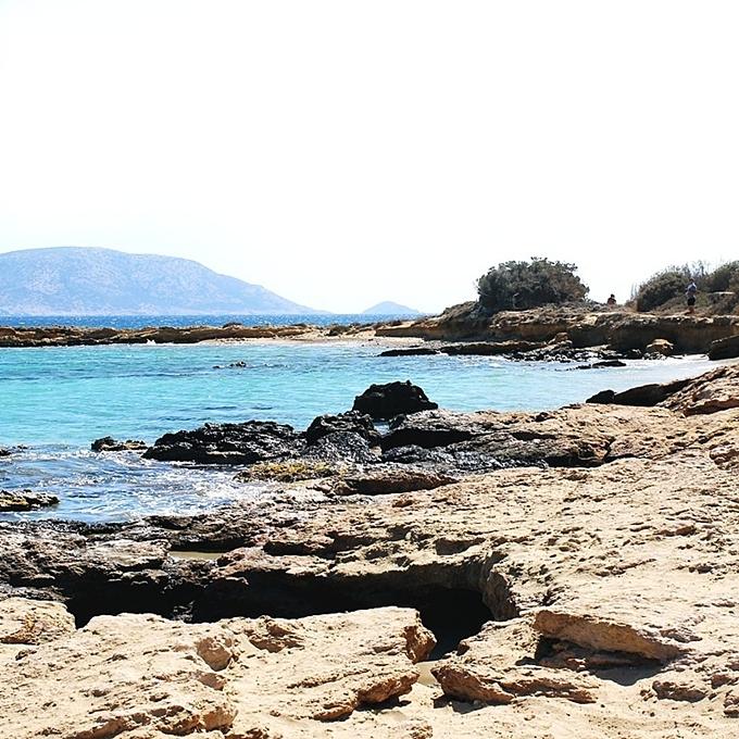 Fanos beach Koufonisia.Fanos plaza.
