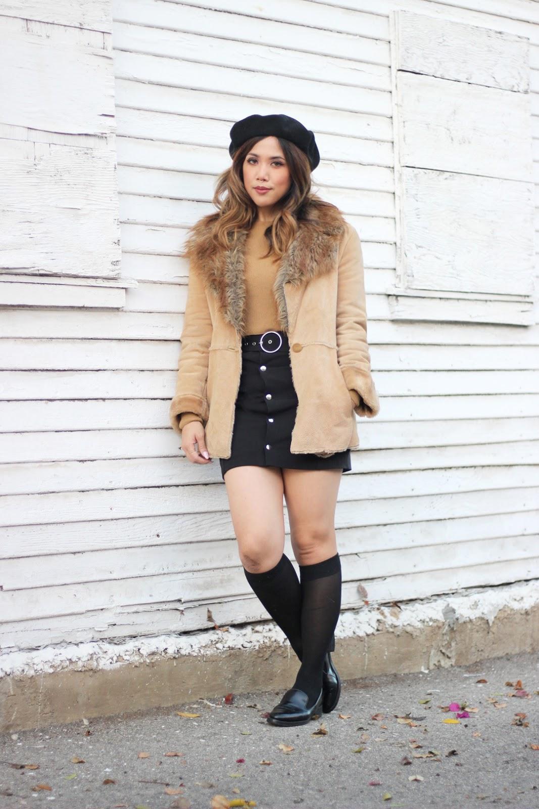 winter in mini skirts pretty in leather